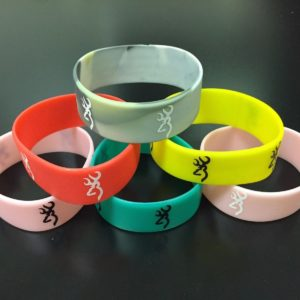 Fashion Rubber Browning Bracelet Band Bangles New Bracelets Deer Hunting Sport 1