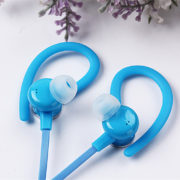 Wireless Bluetooth Headphone Bluetooth Stereo Sport Handsfree Earphone Earbud with Microphone blue