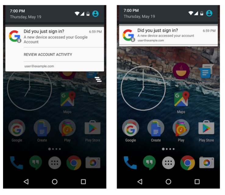Google's new feature for Android users- notifications about newly added devices