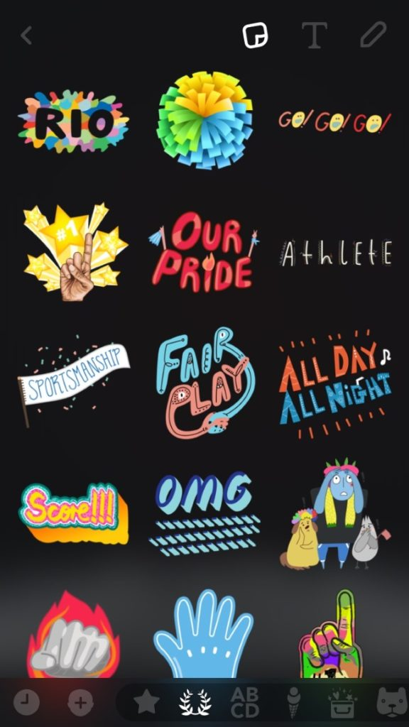 Snapchat announced Bitmoji for Rio 2016