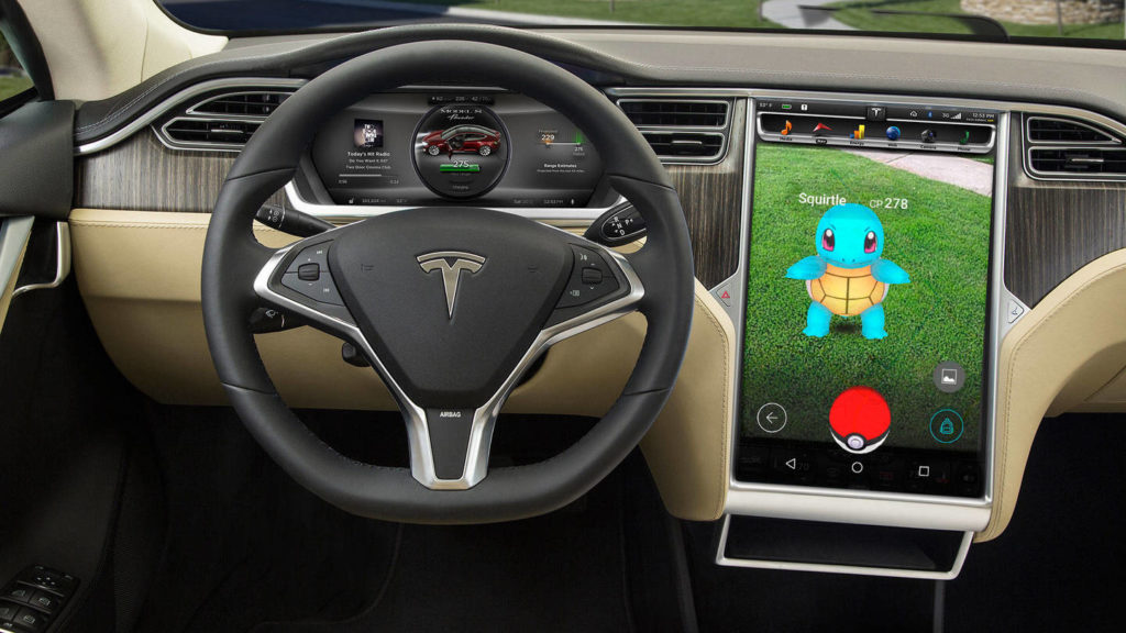 man claims to Run Pokemon Go with his tesla