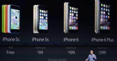 Les différents iPhone