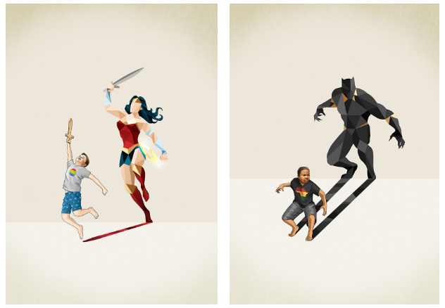 Artist Jason Ratliff Reminds Children That Superheroes Are Of All Races, Genders and Abilities