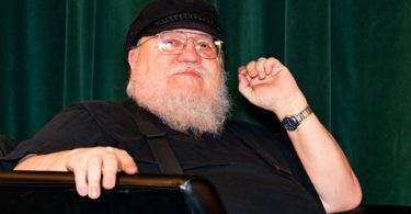 "SANTA FE, NM - FEBRUARY 23:  Writer George R. R. Martin participates in a Q & A session following SundanceTV's ""Hap & Leonard"" Screening at the Jean Cocteau Theater on February 23, 2016 in Santa Fe, New Mexico.  (Photo by Steve Snowden/Getty Images for AMC Networks)"