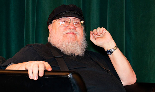 """SANTA FE, NM - FEBRUARY 23:  Writer George R. R. Martin participates in a Q & A session following SundanceTV's """"Hap & Leonard"""" Screening at the Jean Cocteau Theater on February 23, 2016 in Santa Fe, New Mexico.  (Photo by Steve Snowden/Getty Images for AMC Networks)"""