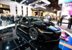 LAS VEGAS, NV - JANUARY 06:  A 2017 Acura NSX Hybrid is displayed at the Panasonic booth at CES 2016 at the Las Vegas Convention Center on January 6, 2016 in Las Vegas, Nevada. CES, the world's largest annual consumer technology trade show, runs through January 9 and is expected to feature 3,600 exhibitors showing off their latest products and services to more than 150,000 attendees.  (Photo by David Becker/Getty Images)