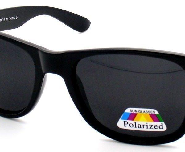 2PC ANTI GLARE POLARIZE LENS BLK CLASSIC VINTAGE WAYFARER SUNGLASSES SHADE UV400
