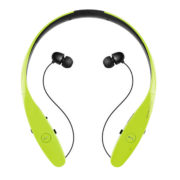 Bluetooth Headset Neckband Headphone with Retractable Earbud for iPhone Android 1