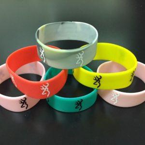 Fashion Rubber Browning Bracelet Band Bangles New Bracelets Deer Hunting Sport 1