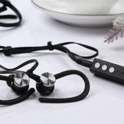 Wireless Bluetooth Headphone Bluetooth Stereo Sport Handsfree Earphone Earbud with Microphone black
