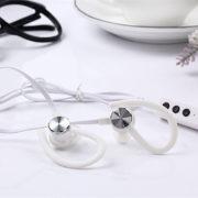 Wireless Bluetooth Headphone Bluetooth Stereo Sport Handsfree Earphone Earbud with Microphone white