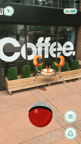 A Pokémon around Huge Café