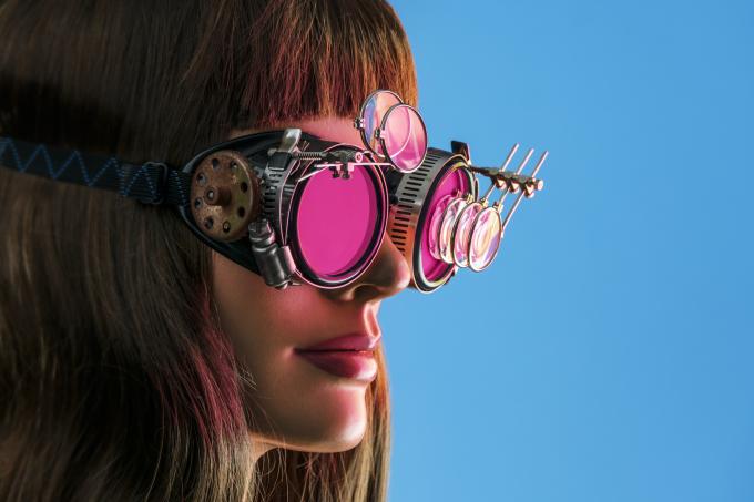 Steampunk Future Vision Woman
